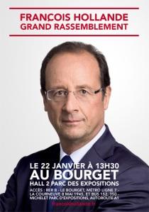 François Hollande : Le Bourget : 22 janvier 2012